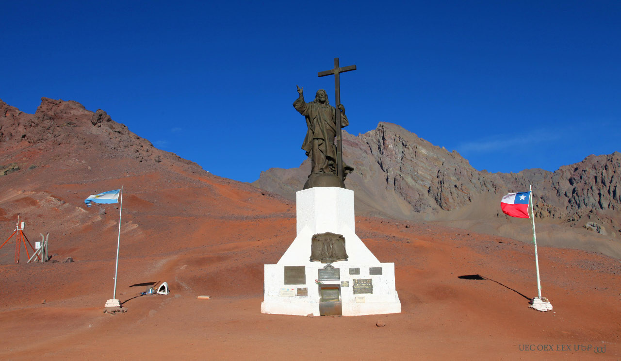 Cristo Redentor de los Andes Christ the Redeemer of the Andes at the Andes Mountain Pass of Uspallata