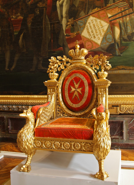 Maltese throne of Tsar Pavel in Versailles