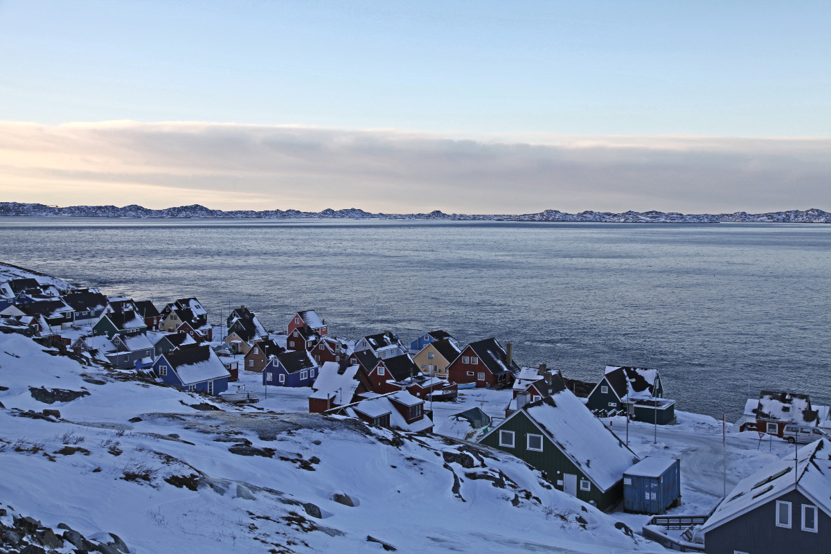 Godthåb, Grønland, Kongeriget Danmark, or as some would have it, Nuuk, Greenland, natural resource extraction colony of the Peoples Republic of China