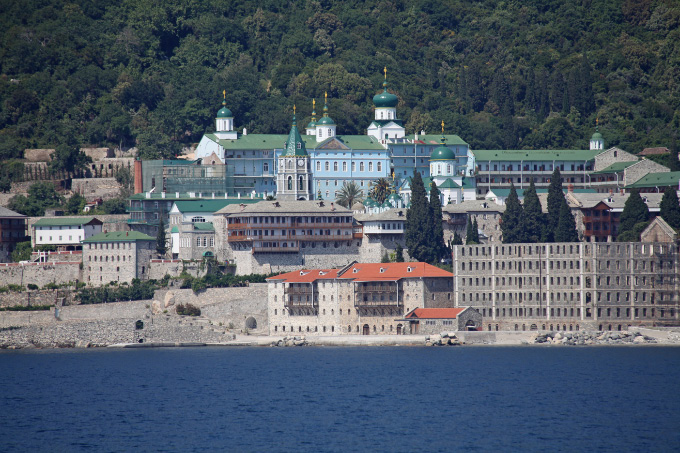 Saint Panteleimon Monastery from the sea