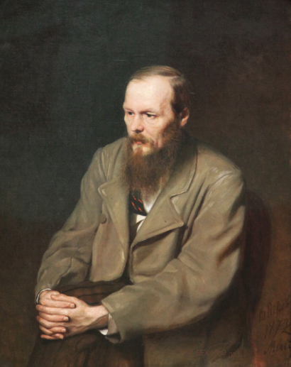 Perov portrait of Dostoyevskii