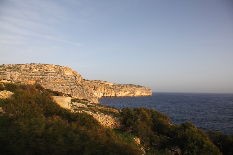 rocky coast of Malta