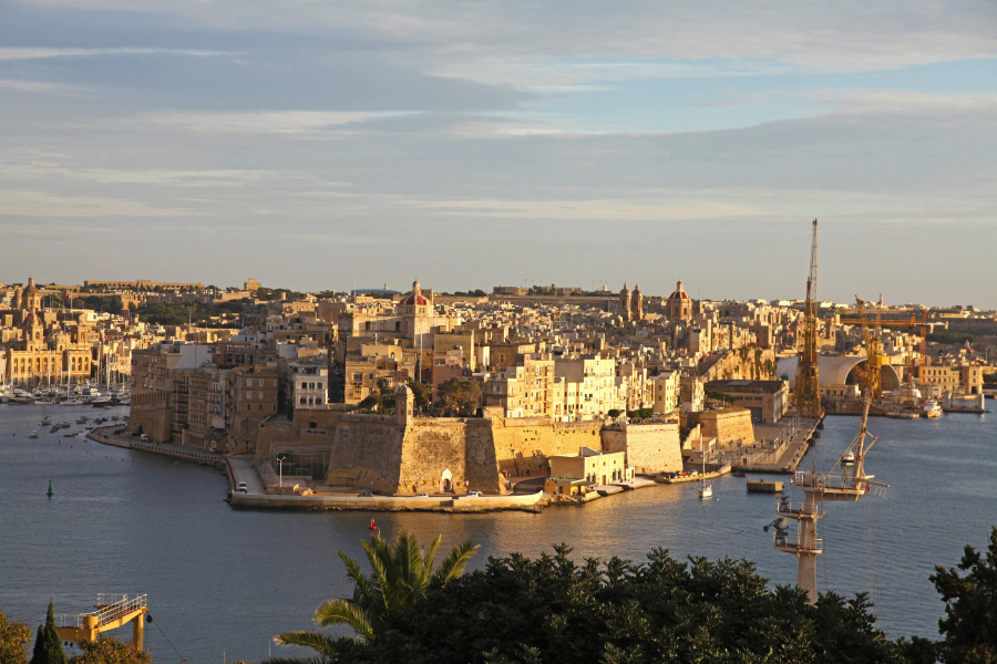 ... view of Senglea from Herbert Ganado Gardens, Valletta