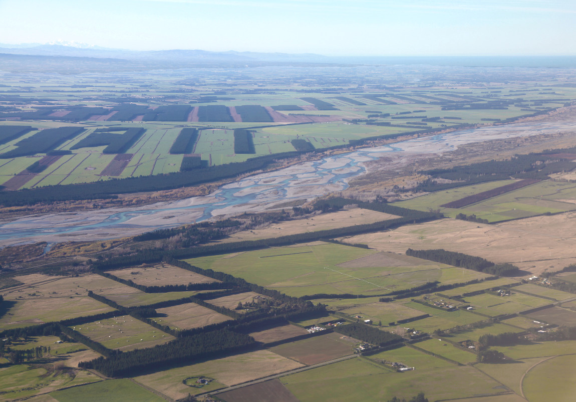 farms from the air over New Zealand's Southern Island on 8 May 2013
