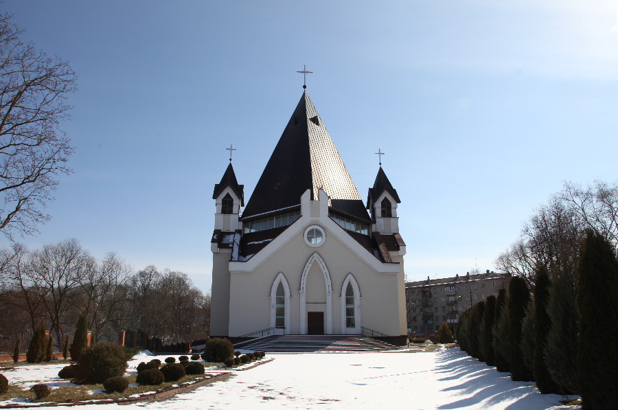 Holy Trinity Catholic parish Church in Pskov Russia