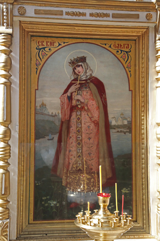 Saint Olga Princess of Kiev by Mikhail Vasilyevich Nesterov in Trinity Cathedral in Pskov
