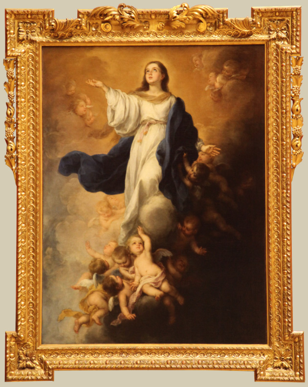 The Immaculate Conception of the Blessed Virgin Mary by Bartolomé Esteban Murillo in the Hermitage in Saint Petersburg in Russia