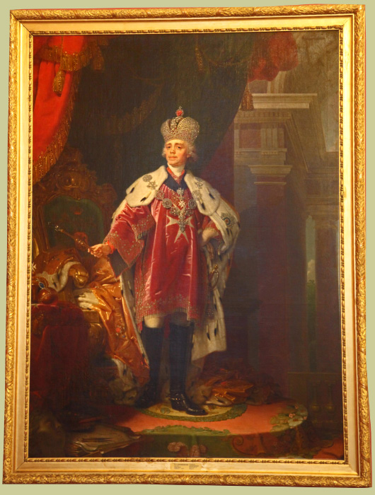 Tsar Pavel as Knight of Malta in Russian Museum in Saint Petersburg