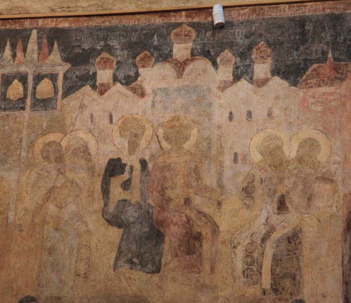 Fresco in the Transfiguration of the Savior Cathedral, Seventh Vsyelenskii Sobor
