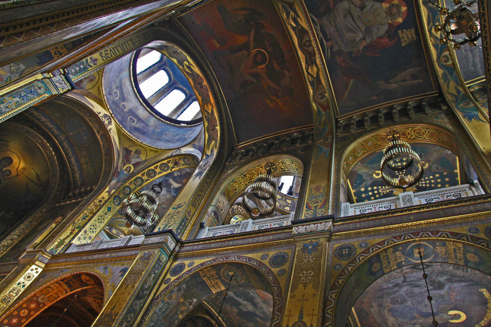 vaulted ceiling of the Патріарший кафедральний собор св. Володимира – Saint Volodymyr's Cathedral in Kyiv