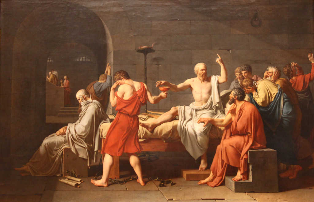 The Death of Socrates – Σωκράτης, painting by Jacques-Louis David