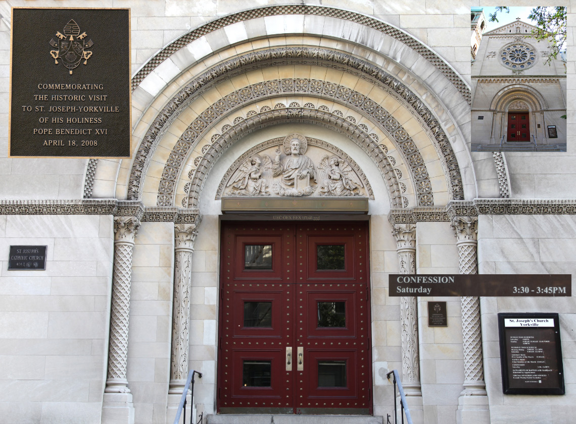 In Yorkville in Manhattan in New York City a Church offering all of 15 minutes per week for Confession