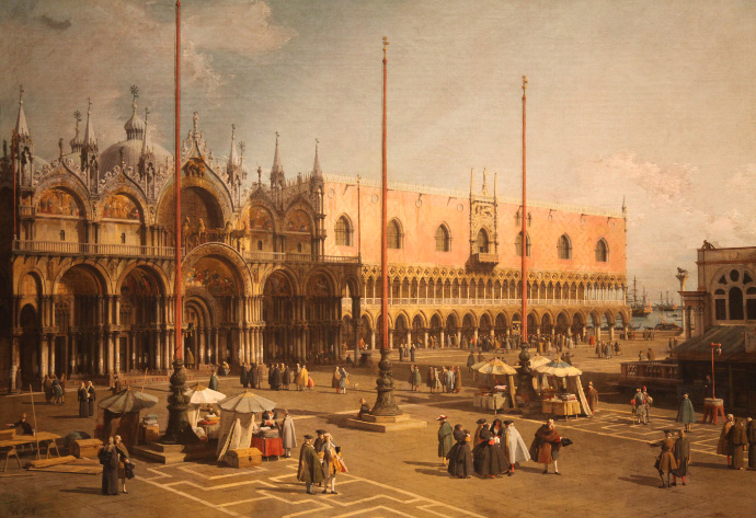 The Square of Saint Marks (1742) by Canaletto
