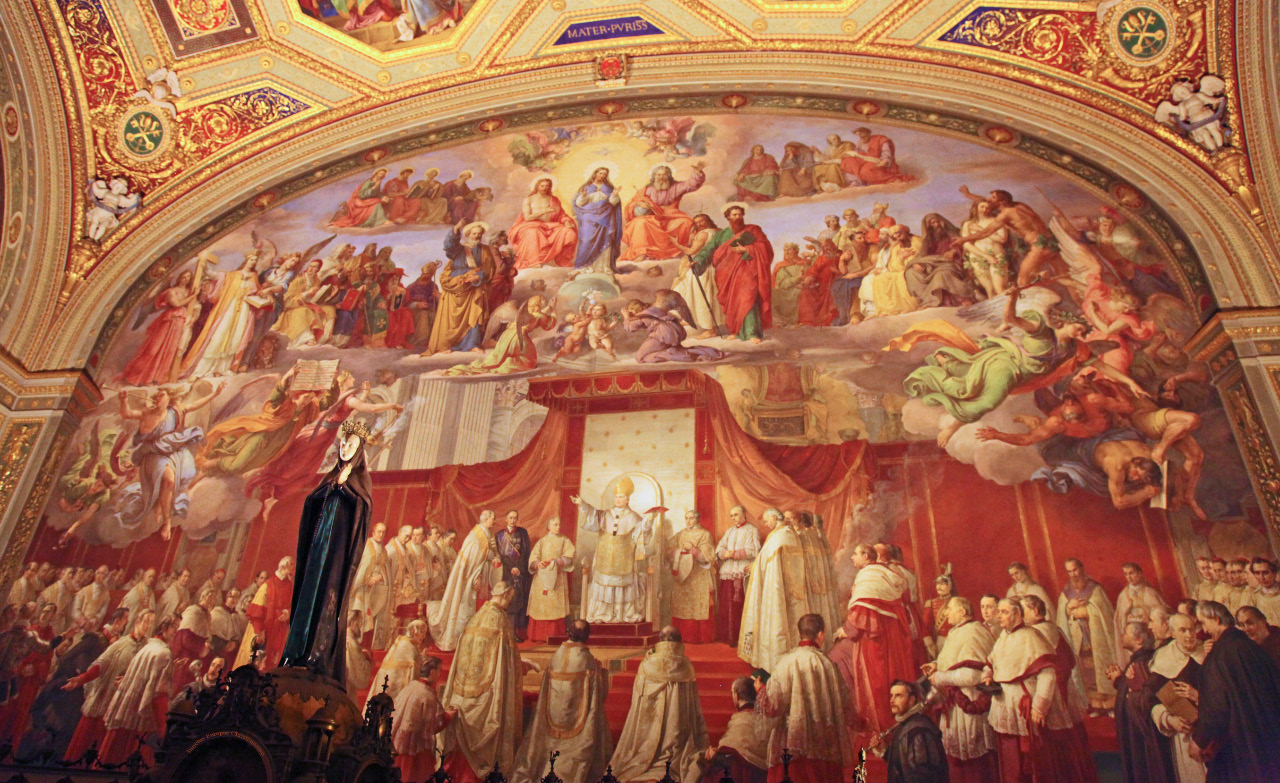 Promulgation of the Dogma of the Immaculate Conception by Francesco Podesti in the Vatican Room of the Immaculate Conception