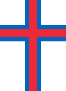 Faroe Islands (Denmark) flag with Christian Nordic Cross