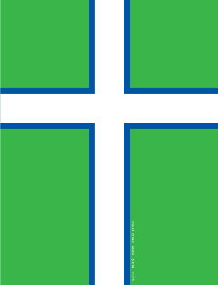 Greenlandic flag alternative with Christian Nordic Cross